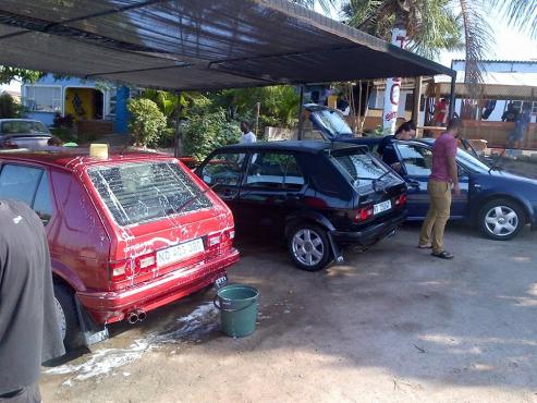 CAR WASH AND SALON AND TUCK SHOP