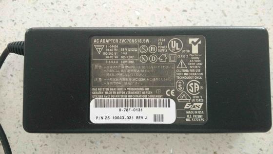 Original AC ADAPTER ZVC70NS18.5W 18V 3,6A 65W