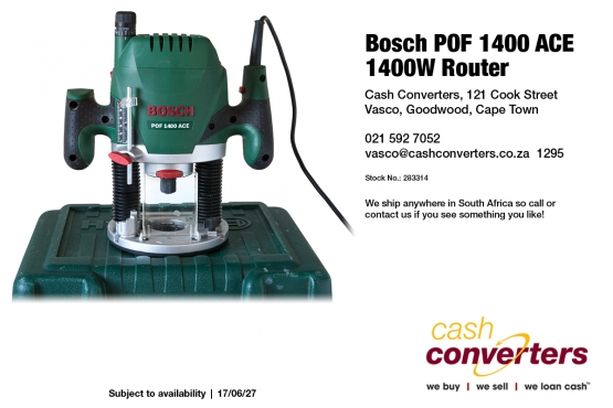 Router in building and diy in cape town junk mail bosch pof 1400 ace 1400w router greentooth Images
