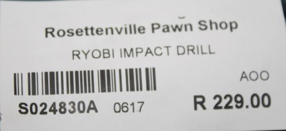 Ryobi impact drill S024830a