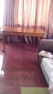 Imbuya Dining Table and 2 Chairs
