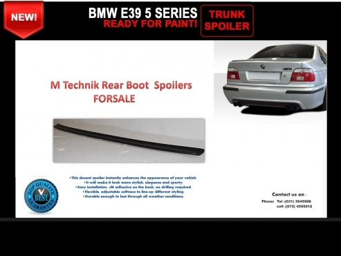 BMW E39 5 Series M Technik Style New Plastic Rear Boot Spoilers FOR SALE PRICE: R450