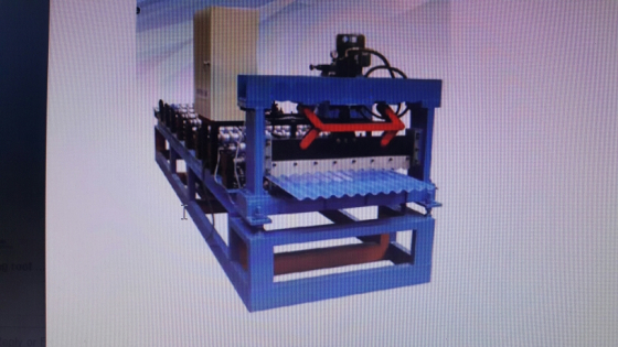Corrugated roll forming line.