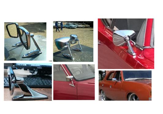 Classic Car Silver Chrome Vintage Mirrors Junk Mail