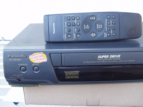 Panasonic Video Machine - VCR - with remote in excellent working order