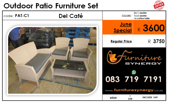 NEW Outdoor Patio Furniture Sets_from R480 each