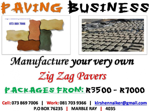 Manufacture your own Zig Zag Paving