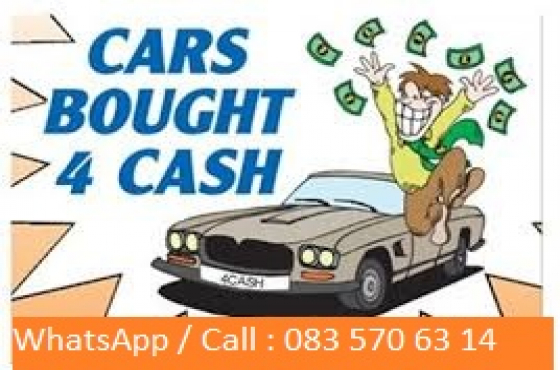 Cash Buyer for Cars and bakkies anywhere in Gauteng