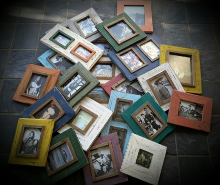 Rustic distressed picture frames
