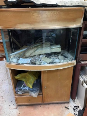 fish tank with cabinet