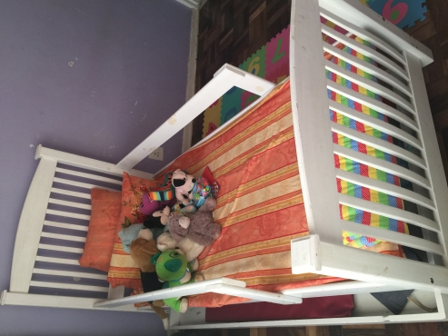 White single bed for kids