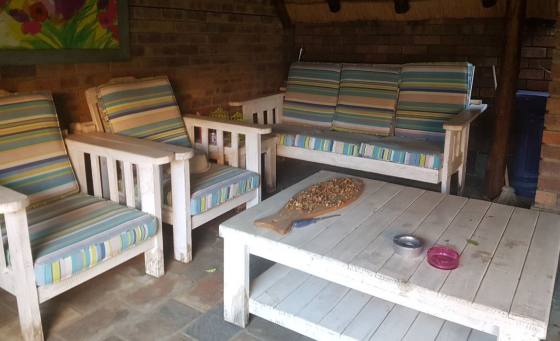 Perfect PATIO WAREHOUSE MORRIS WAVE Whitewash Wooden Furniture With Striped Cushions