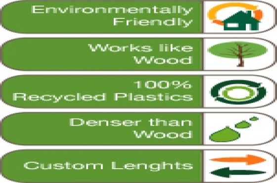 100% RECYCLED PLASTIC PLANKS