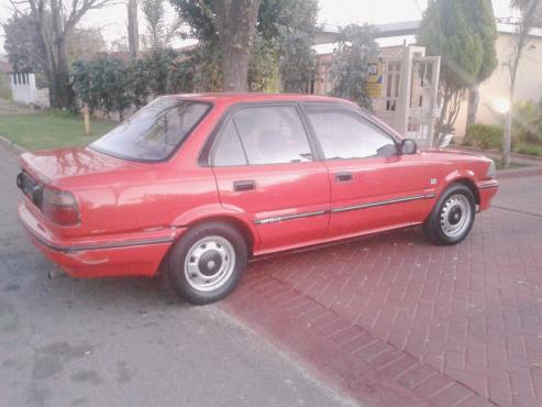 Toyota Corolla 1.3 - 1992 model- Red in colour