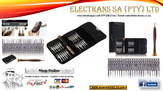 1 in 25 Set/Precision Torx Screwdriver Repair Tool Set ~ Electrans SA