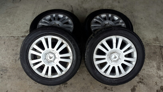 Citroen & Peugeot Mags 16 inch Set of 4 complete 4-108 PCD for sale