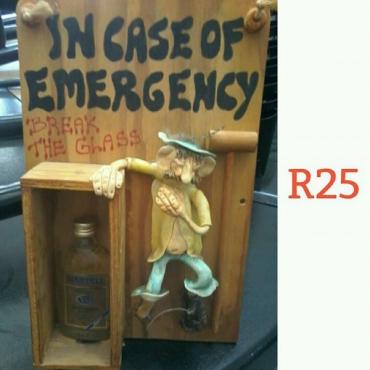 In case of emergency break the glass ornament