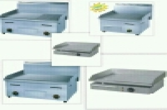 Brand new gas and electric flat top grillers
