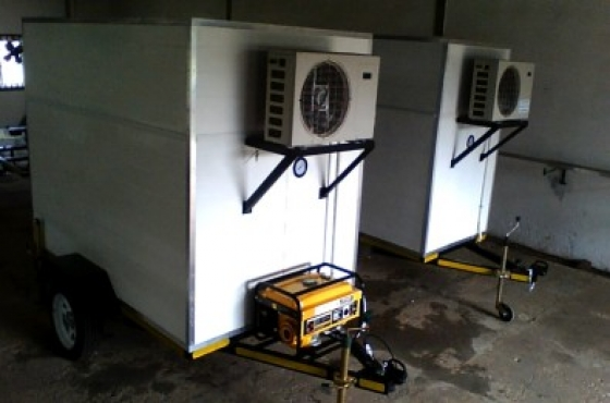 Single and double axle refrigerated trailers for sale.