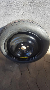 One Brand New 15 inch Toyota Yaris Space Saver Biscuit Spare wheel with New Tyre