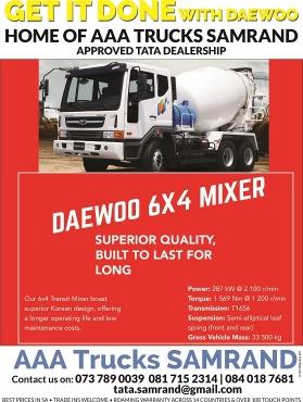 DAEWOO 6x4 , MIXER , NEW