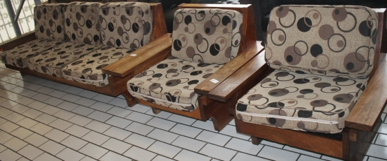 Wooden lounge suite