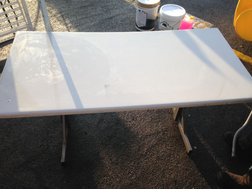 Fibreglass table heavy duty