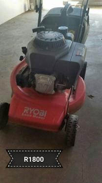 Ryobi four stroke petrol lawnmower