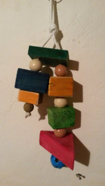 Bird hanging toys in various sizes