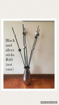 Black and silver sticks