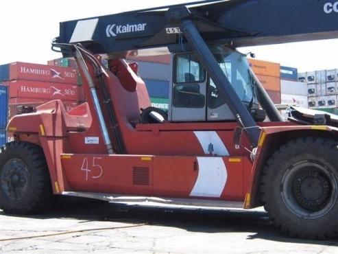 A used 45 ton Kalmar reachstacker