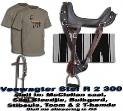 Cattle Workers Saddle & Tack Kit / Veewagter stel