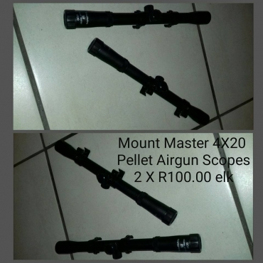 Pellet airgun scopes