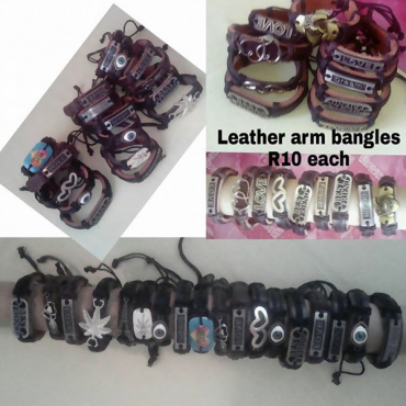 Leather arm bangles
