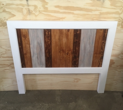 Headboard Chunky Farmhouse series Queen size Weathered look
