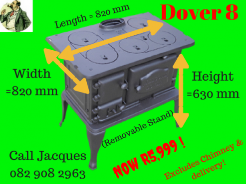 Refurbished Dover 8 Coal/ Wood Burner Stove