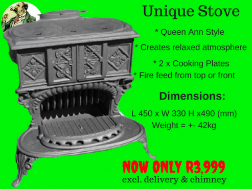 Unique Coal/Wood Stove - JP's 912 (NEW)