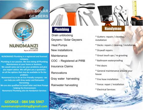 Nunomanzi Plumbing and Handyman Services