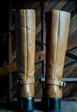 Genuine leather Long and short boots