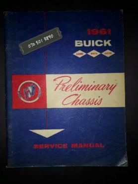 1961 Buick Service Manual.