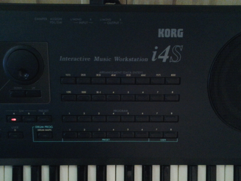 KORG I4S Keyboard and Voice Master 680B Amplify system for sale