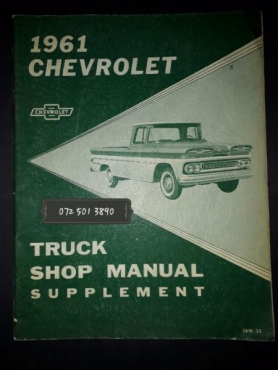 1961 Chevrolet - Truck Shop Manual Supplement.
