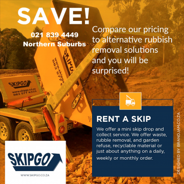 Skips for hire in Tableview at Skipgo