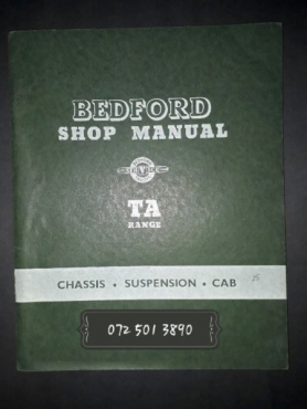 Bedford Shop Manual - Bedford Service Trucks - TA Range.