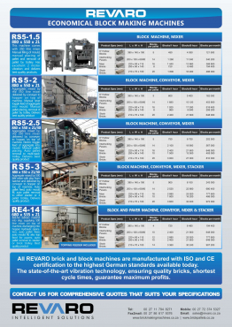 Brick making machines Great range of egg layers and static machines