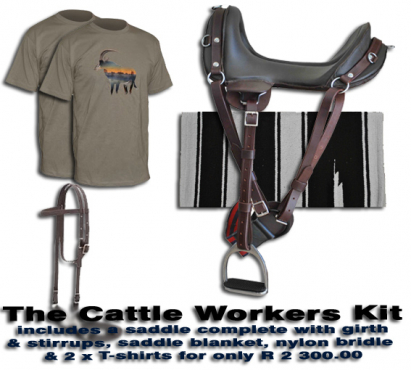 Cattle Workers Kit for R 2 300.00 is a low cost solution to your farm workers equestrian needs.