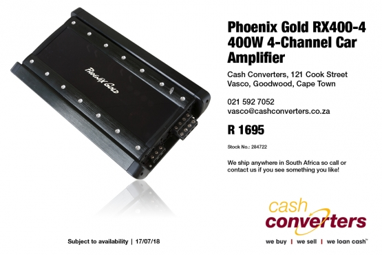 Phoenix Gold RX400-4 400W 4-Channel Car Amplifier | Junk Mail