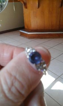 Gorgeous Tanzanite White gold Diamond ring