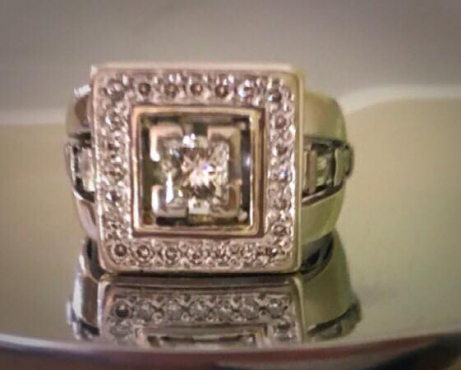 Custom made one of a kind Gold Diamond ring for sale