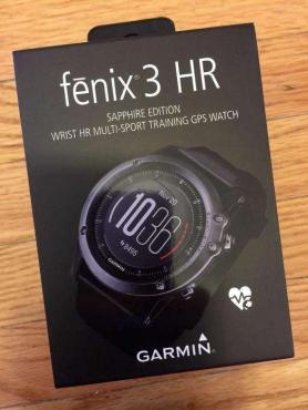 Garmin Fenix 3 HR Sapphire Edition GPS Heart Rate Monitor Sport Watch